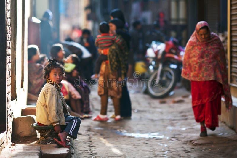 Ragazza nepalese fotografia stock