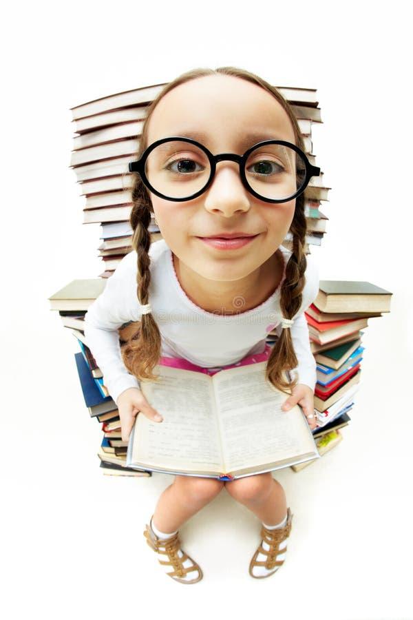 Ragazza in occhiali fotografia stock libera da diritti