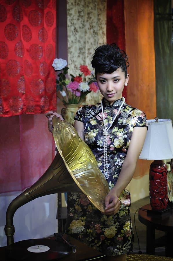 Ragazza sexy cinese 2011 di esposizione della CINA P&E fotografie stock libere da diritti