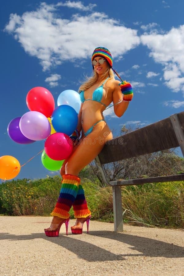 Ragazza sexy del bikini fotografia stock