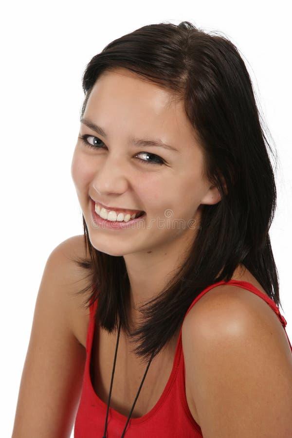 Ragazza sorridente del Brunette immagine stock libera da diritti