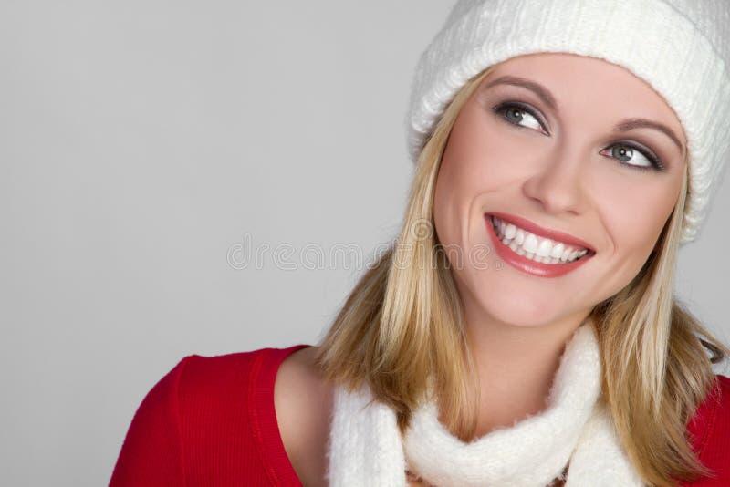 Ragazza sorridente di inverno fotografie stock