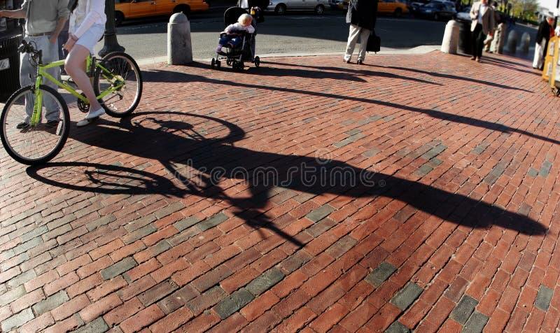 Ragazza Su Una Bici Fotografia Stock
