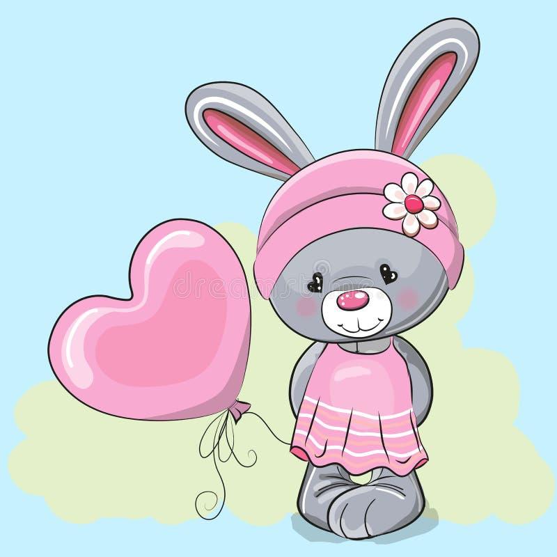 Ragazza sveglia del coniglio del fumetto royalty illustrazione gratis