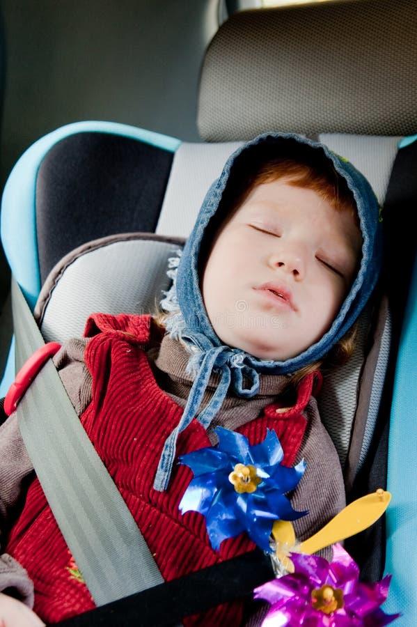 ragazza sveglia dell'automobile piccolo immagini stock