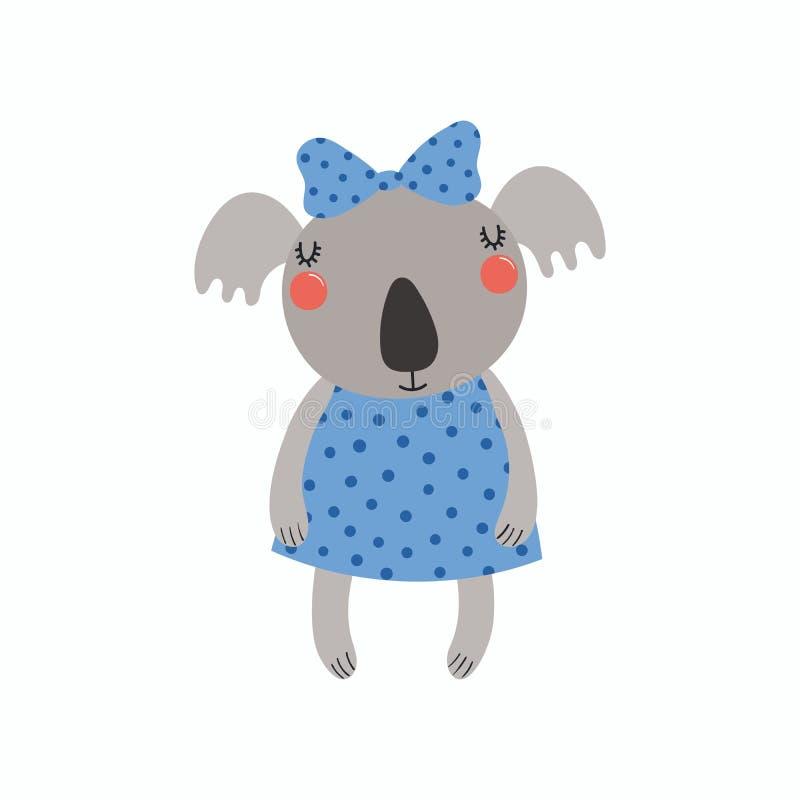 Ragazza sveglia della koala royalty illustrazione gratis