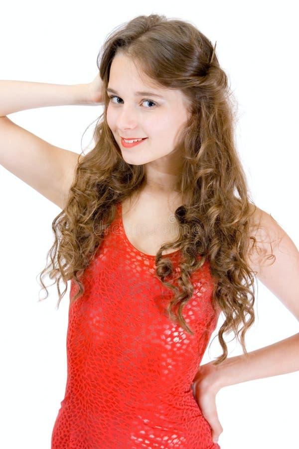Ragazza teenager bella di sorriso fotografia stock libera da diritti
