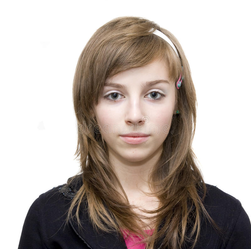 Ragazza teenager casuale fotografia stock libera da diritti