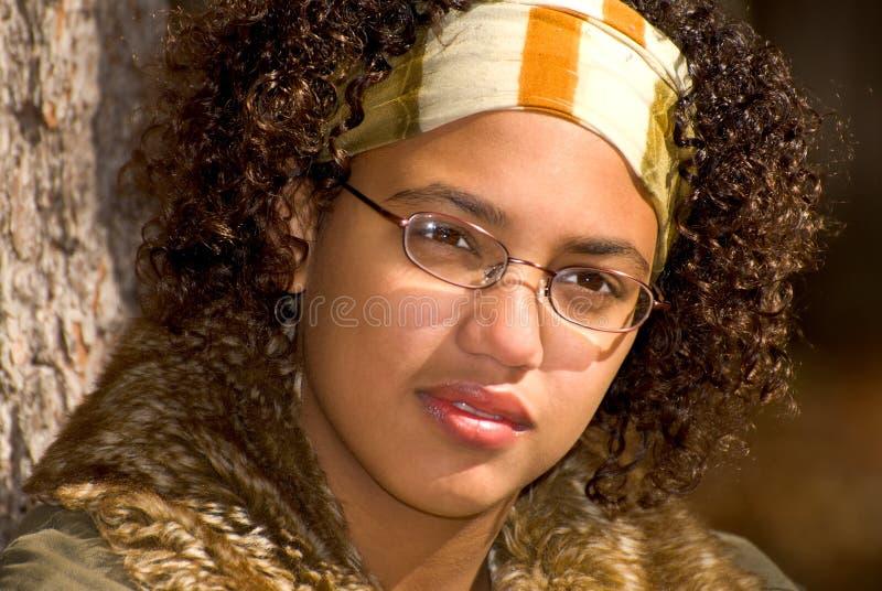 Ragazza teenager dell'afroamericano immagine stock