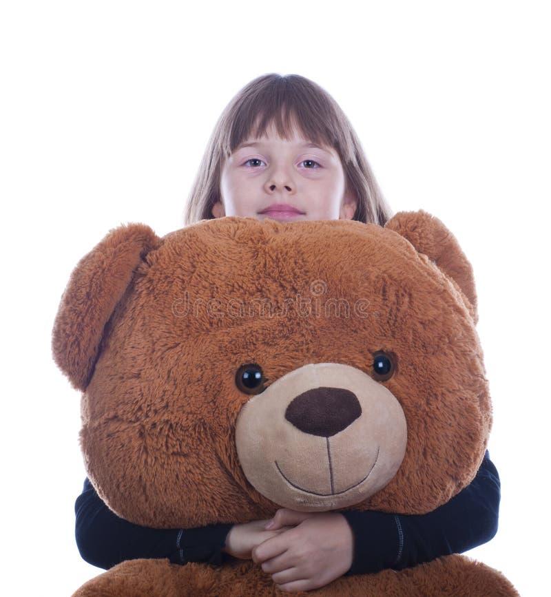 Ragazza teenager felice con un giocattolo fotografie stock libere da diritti