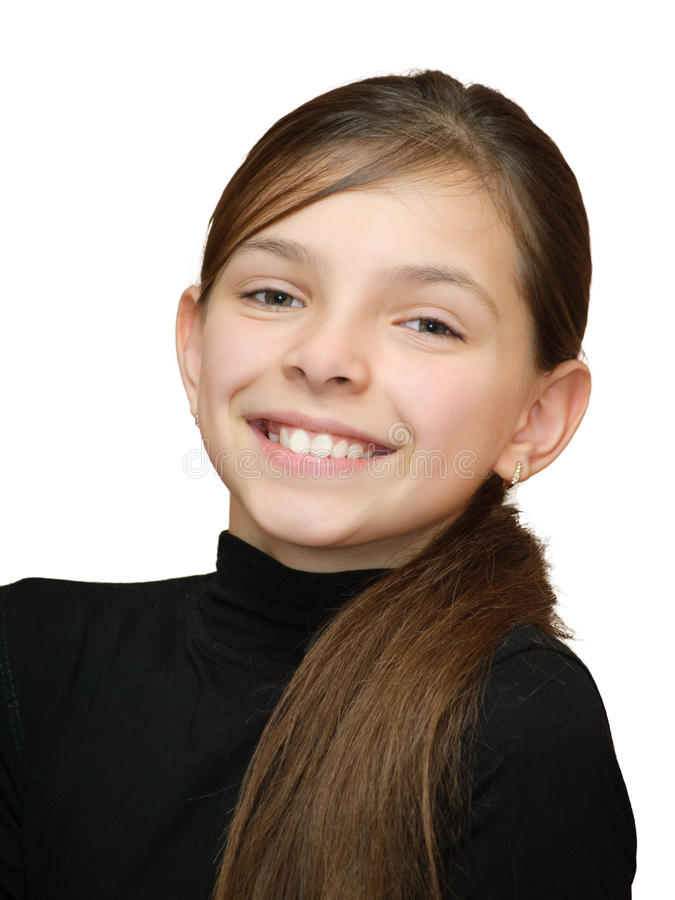 Ragazza teenager sorridente fotografia stock