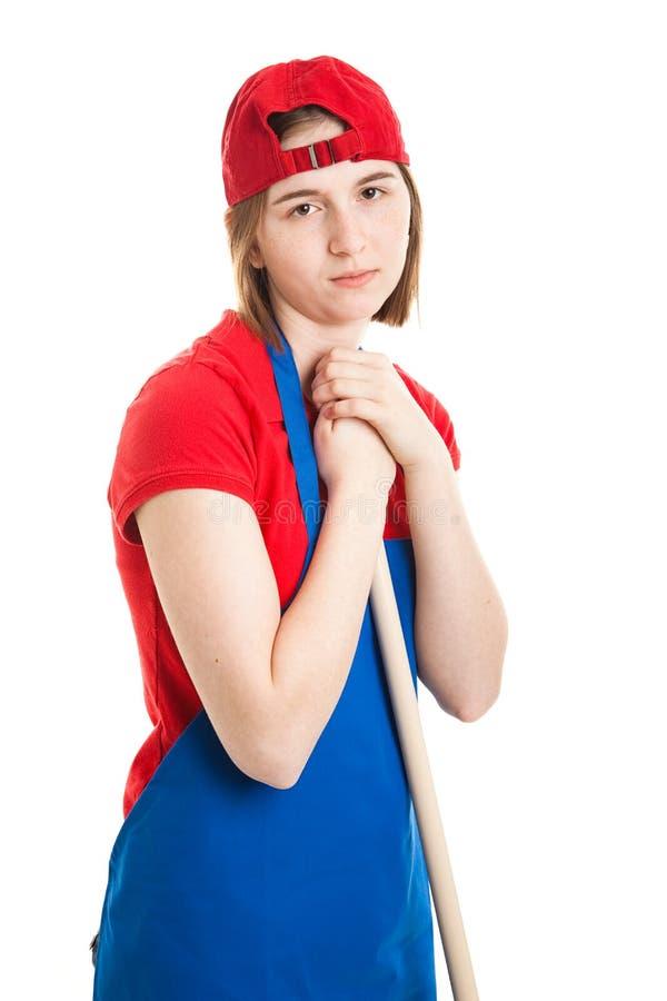 Ragazza teenager triste con il job fotografia stock libera da diritti