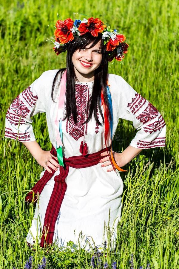 Ragazza ucraina in vestiti nazionali fotografia stock