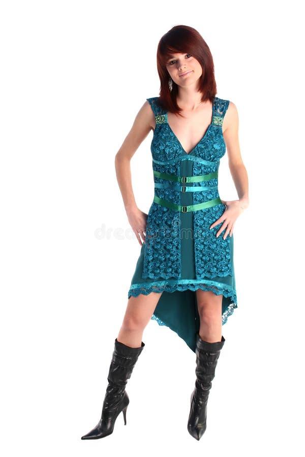 Ragazza in un vestito fotografie stock libere da diritti