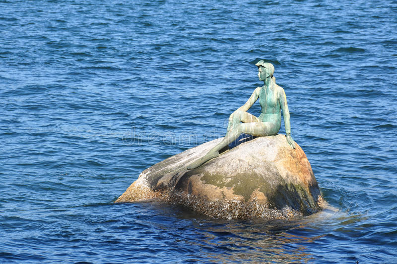 Ragazza in una statua della muta umida, Vancouver, Columbia Britannica, Canada immagini stock libere da diritti