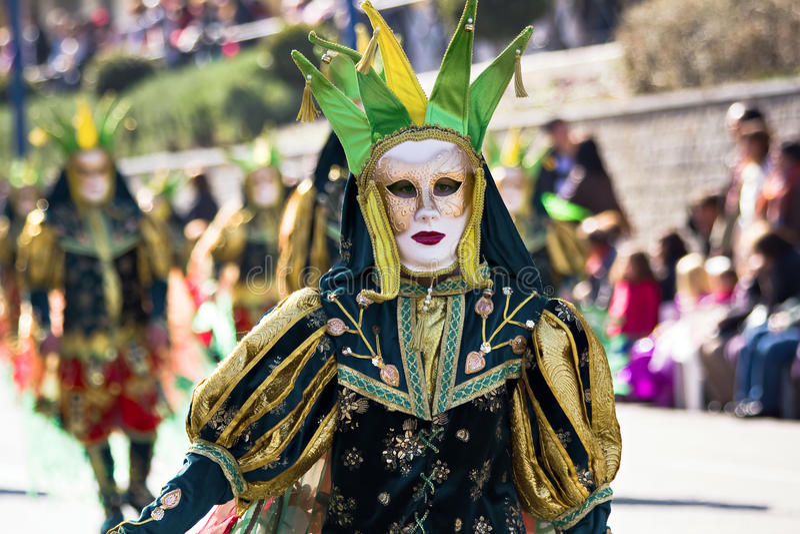 Ragazza vestita nel carnevale fotografie stock
