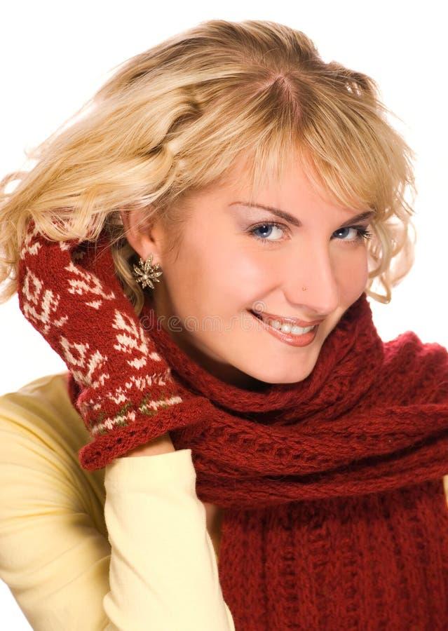 Ragazza in vestiti di inverno immagine stock