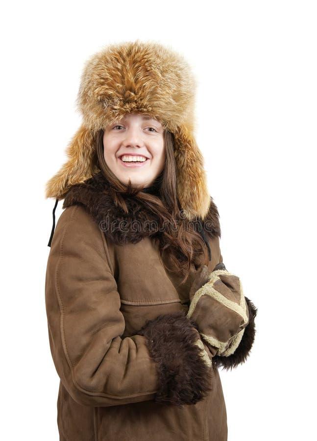 Ragazza in vestiti invernali fotografie stock