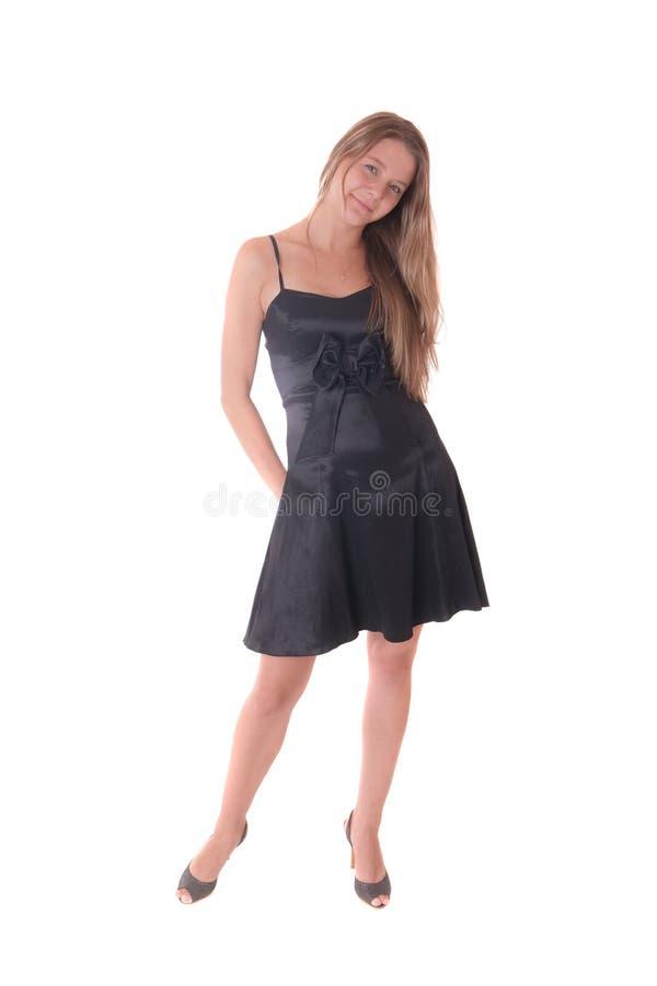 Ragazza in vestito scuro fotografia stock libera da diritti