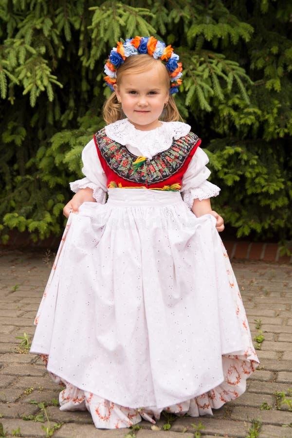 Ragazza in vestito Slesiano tradizionale immagine stock