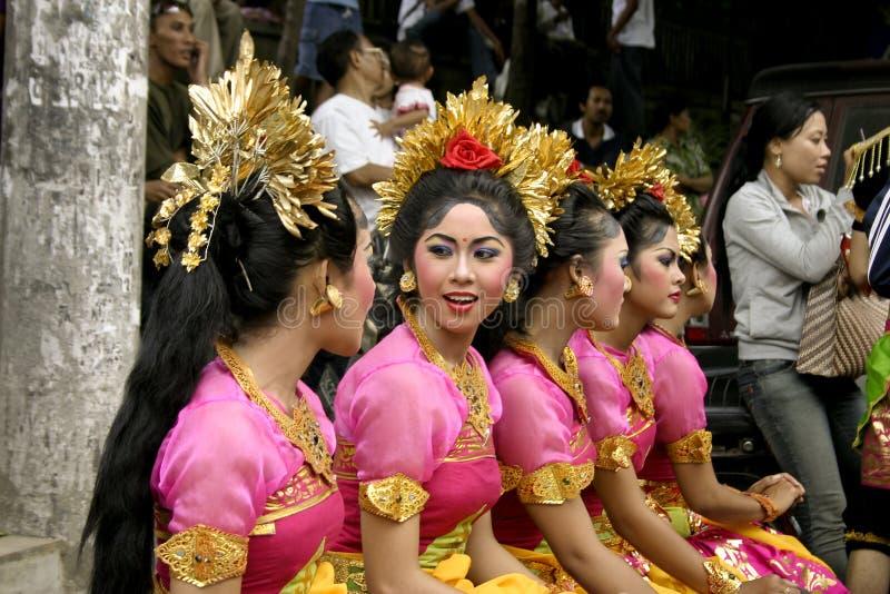 Ragazze del danzatore di Balinese fotografia stock libera da diritti