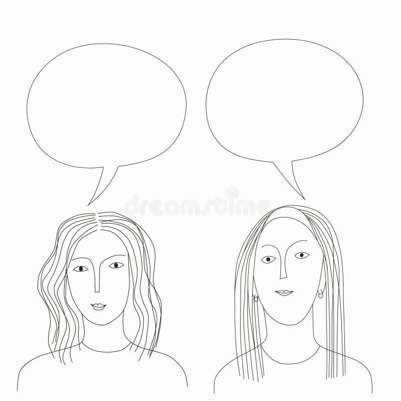 ragazze di conversazione illustrazione di stock
