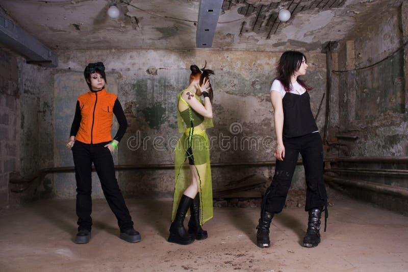 Ragazze di goth fotografie stock
