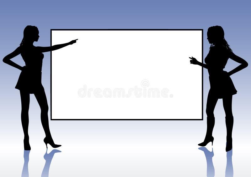 Ragazze di presentazione royalty illustrazione gratis