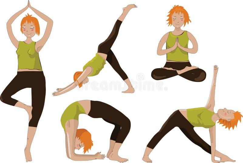 Ragazze di yoga illustrazione di stock
