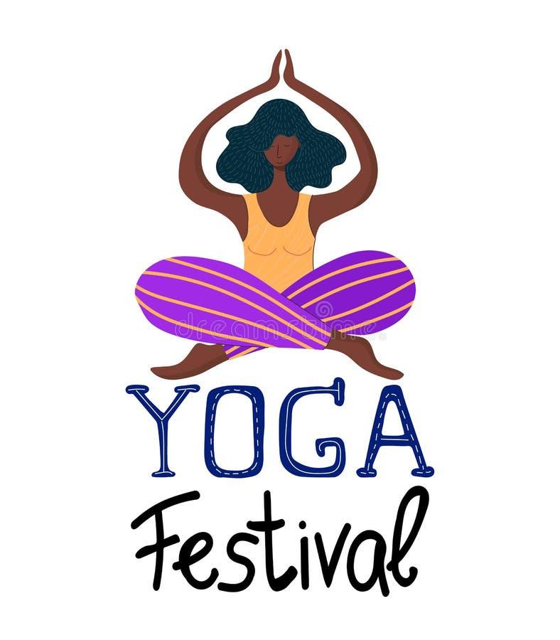 Ragazze di yoga di vettore royalty illustrazione gratis