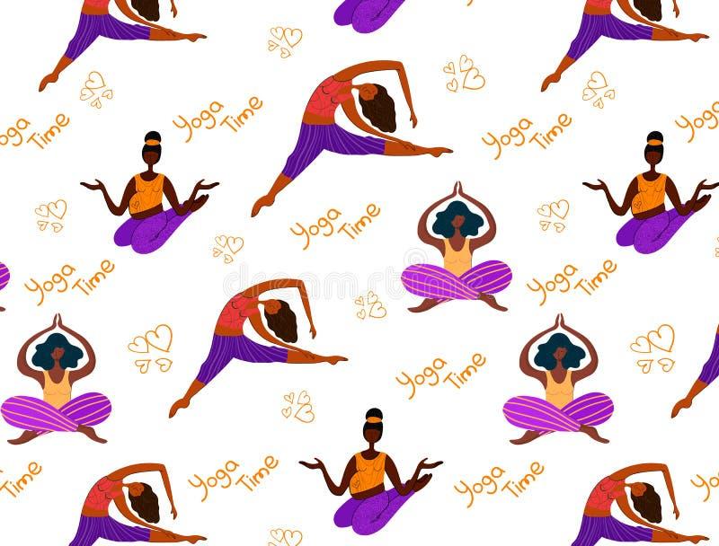 Ragazze di yoga di vettore illustrazione vettoriale
