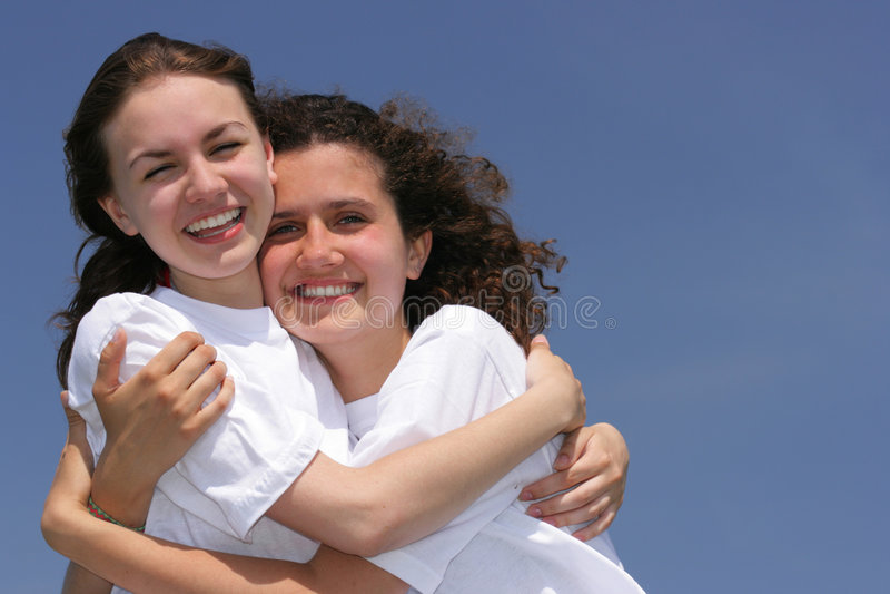 Ragazze felici fotografie stock libere da diritti