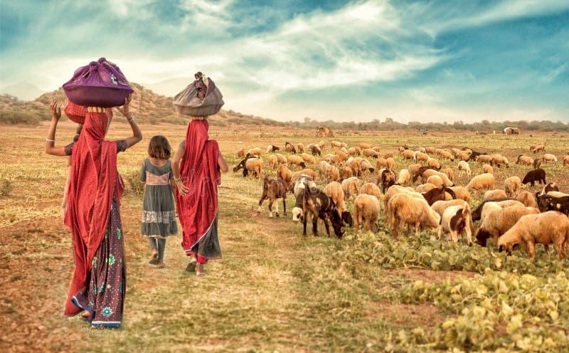 Ragazze rurali fotografia stock libera da diritti