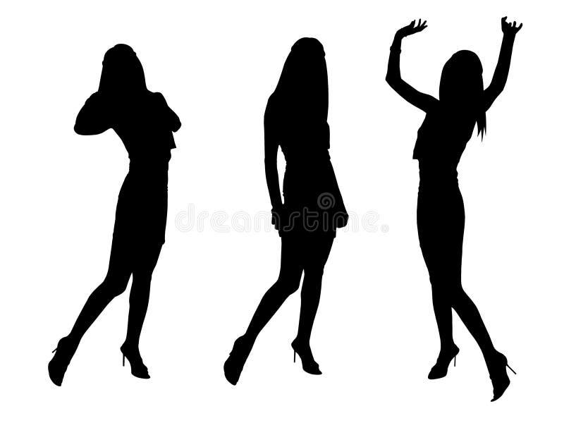 Ragazze sexy di modo nero illustrazione di stock