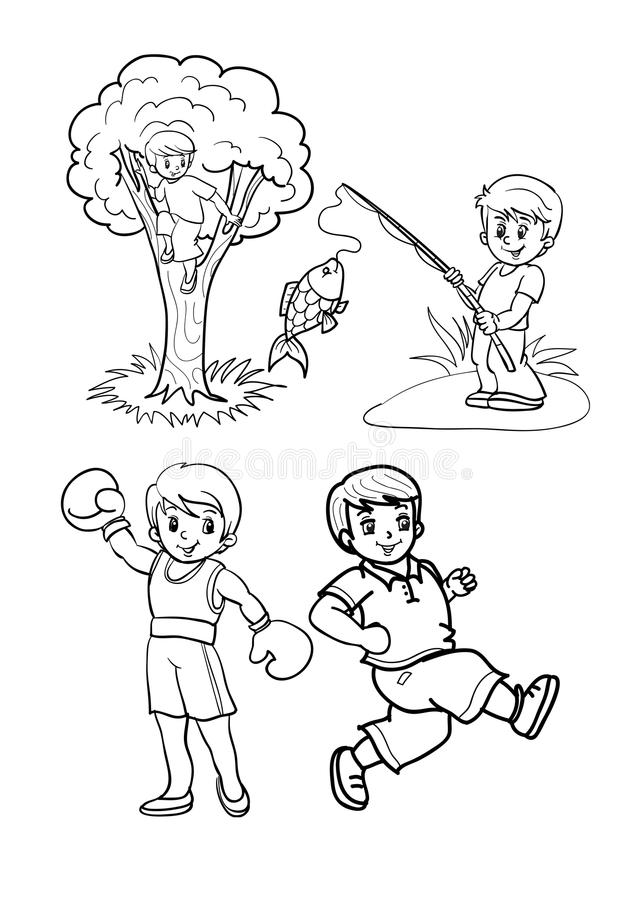 Ragazzi illustrazione di stock