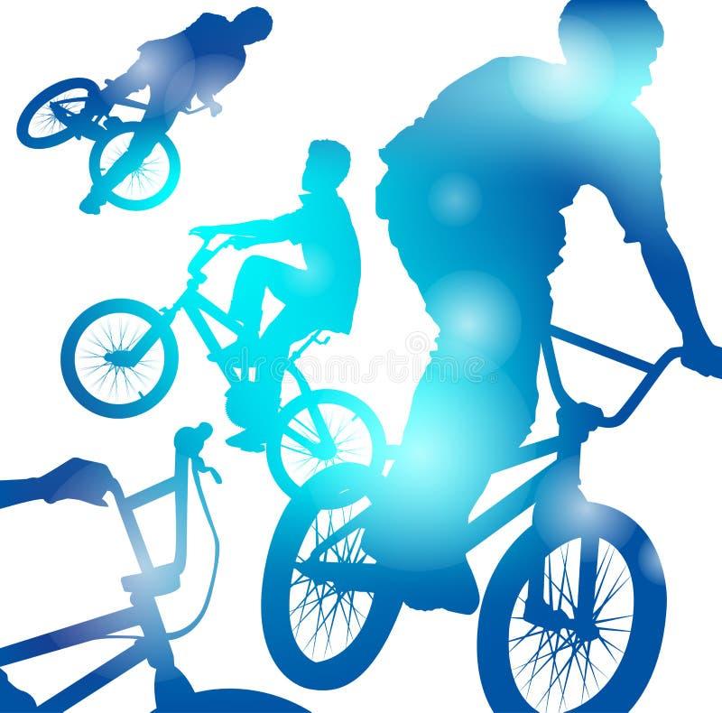 Ragazzi astratti di BMX royalty illustrazione gratis