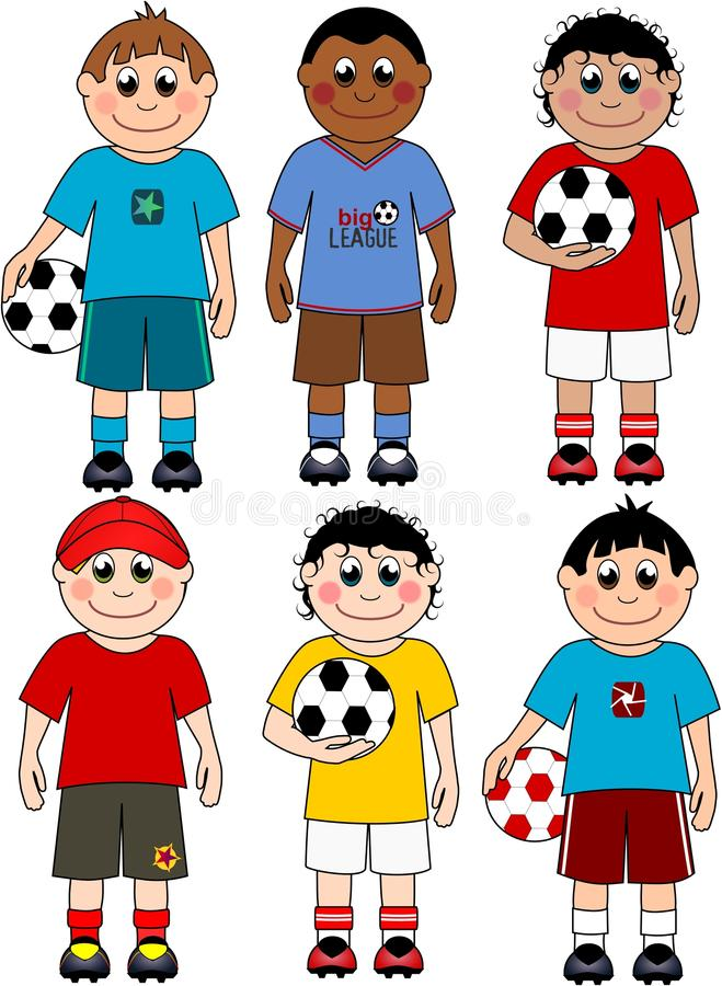 Ragazzi di calcio illustrazione di stock