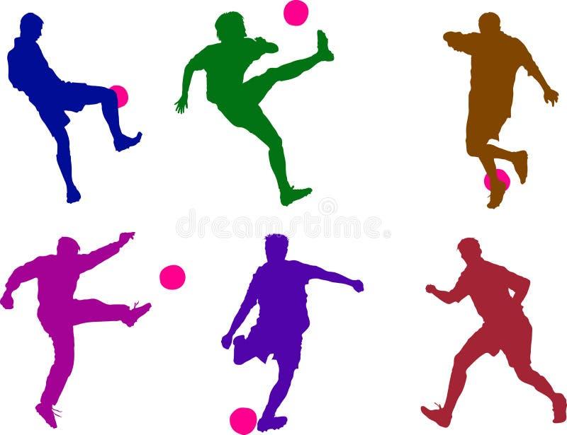 Ragazzi di gioco del calcio illustrazione di stock
