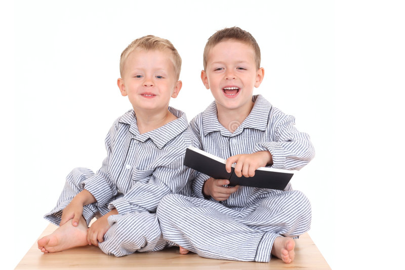 Ragazzi di Pijama fotografia stock