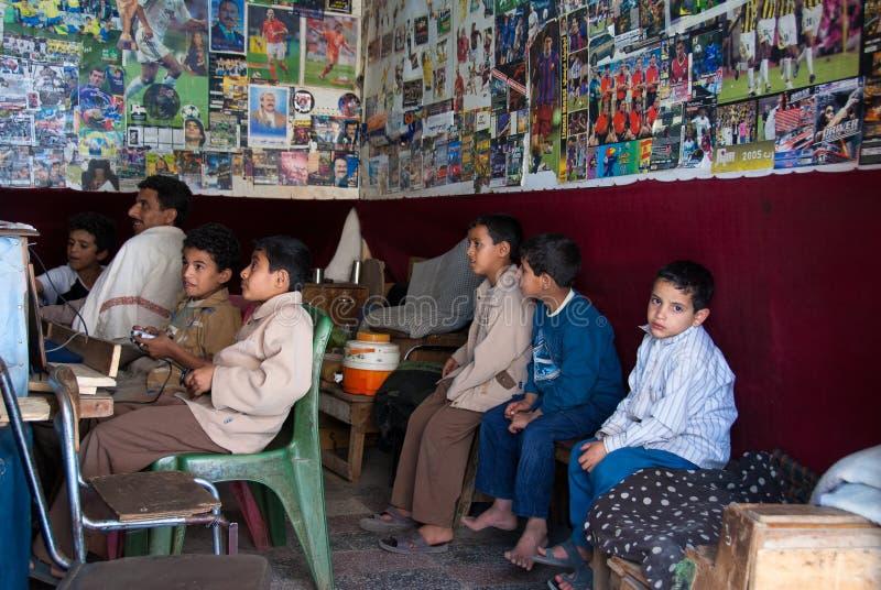 Ragazzi nell'Yemen fotografie stock