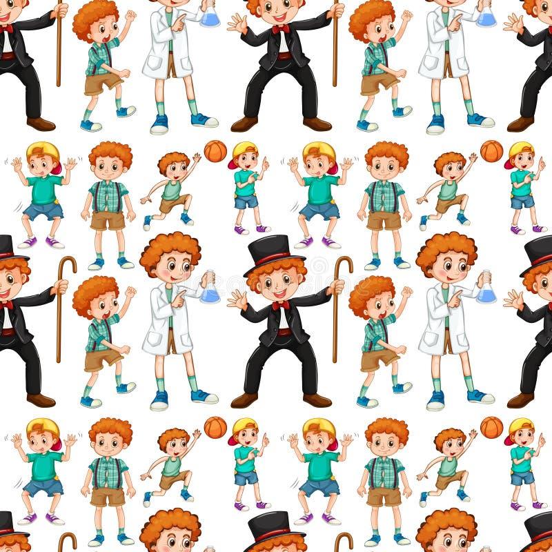 Ragazzi senza cuciture in costume differente royalty illustrazione gratis