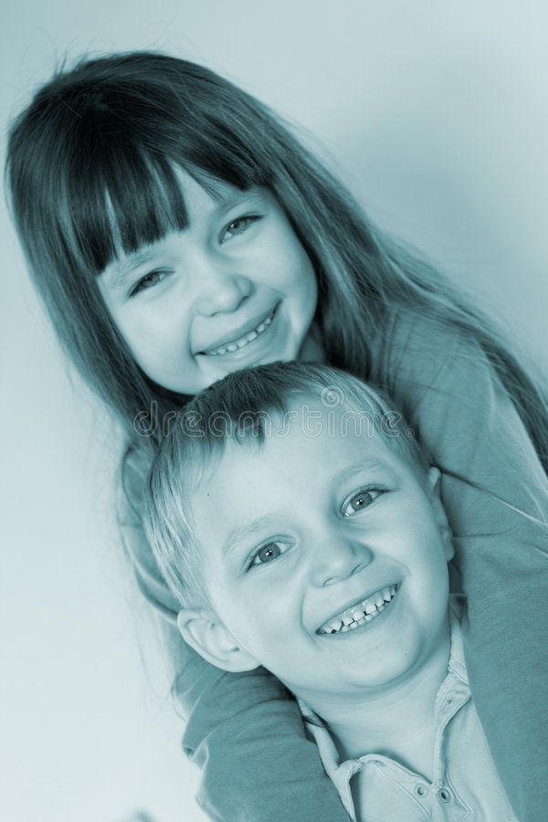 Ragazzini sorridenti fotografia stock