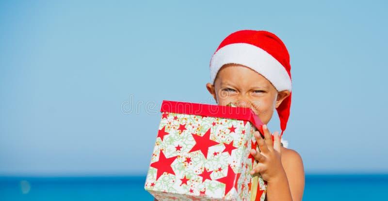 Ragazzino In Cappello Di Santa Fotografia Stock Libera da Diritti