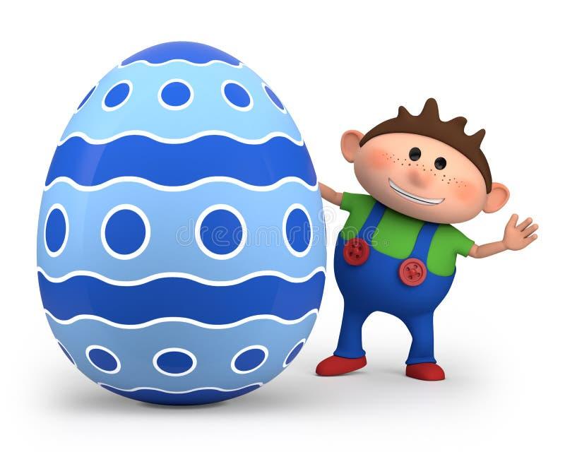 Ragazzino con l'uovo di Pasqua royalty illustrazione gratis