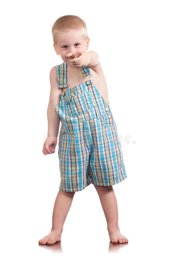Ragazzino del ragazzino che indica voi. immagine stock