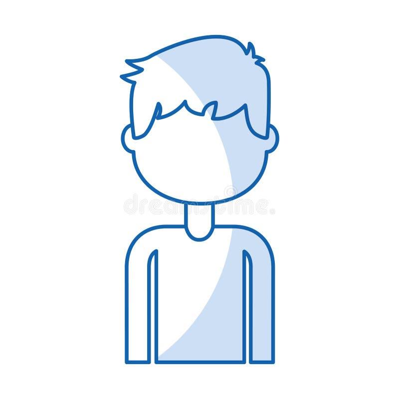 ragazzo bello dell'icona illustrazione di stock
