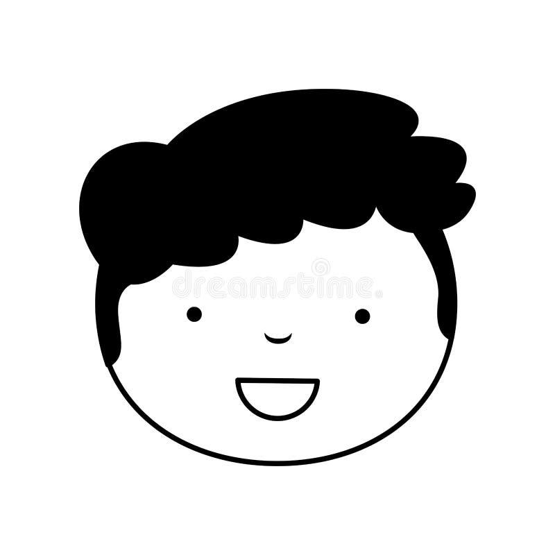 ragazzo bello dell'icona illustrazione vettoriale