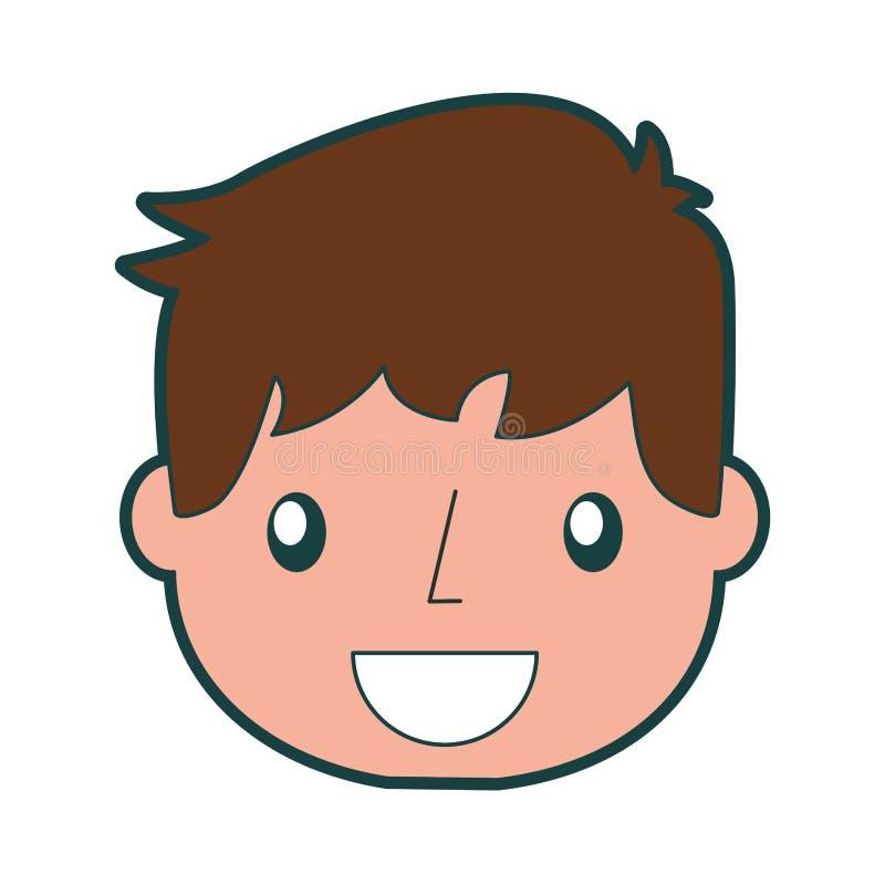 Ragazzo bello sorridente dell'icona illustrazione di stock