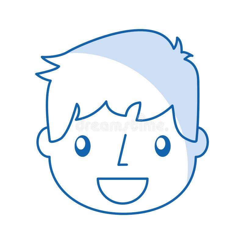 Ragazzo bello sorridente dell'icona illustrazione vettoriale