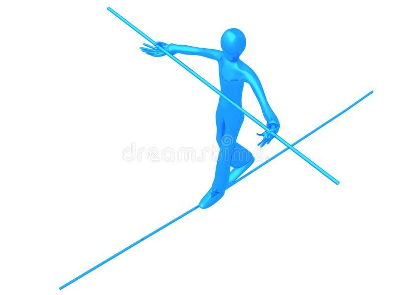 Ragazzo blu dell'acrobata illustrazione vettoriale